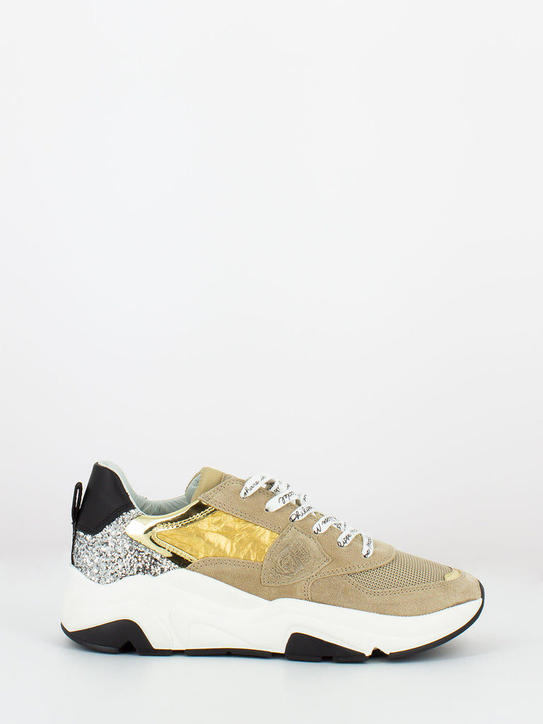 PHILIPPE MODEL JUNIOR - Eze low junior leo glitter beige