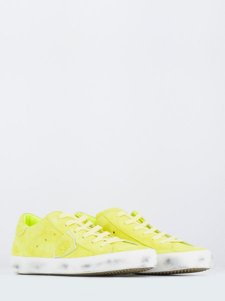 Paris low suede giallo neon