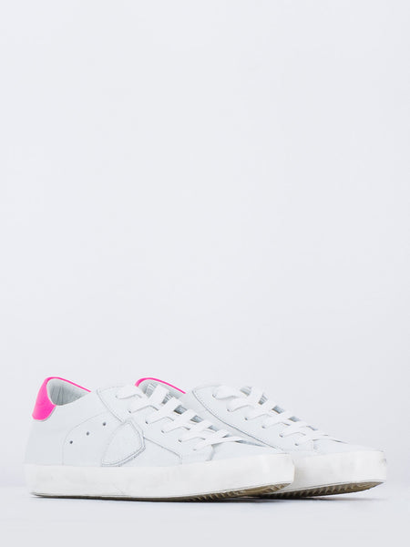 Paris low veau neon bianco / fuxia