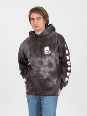 RIPNDIP - Felpa hoodie 7 days black lightning wash