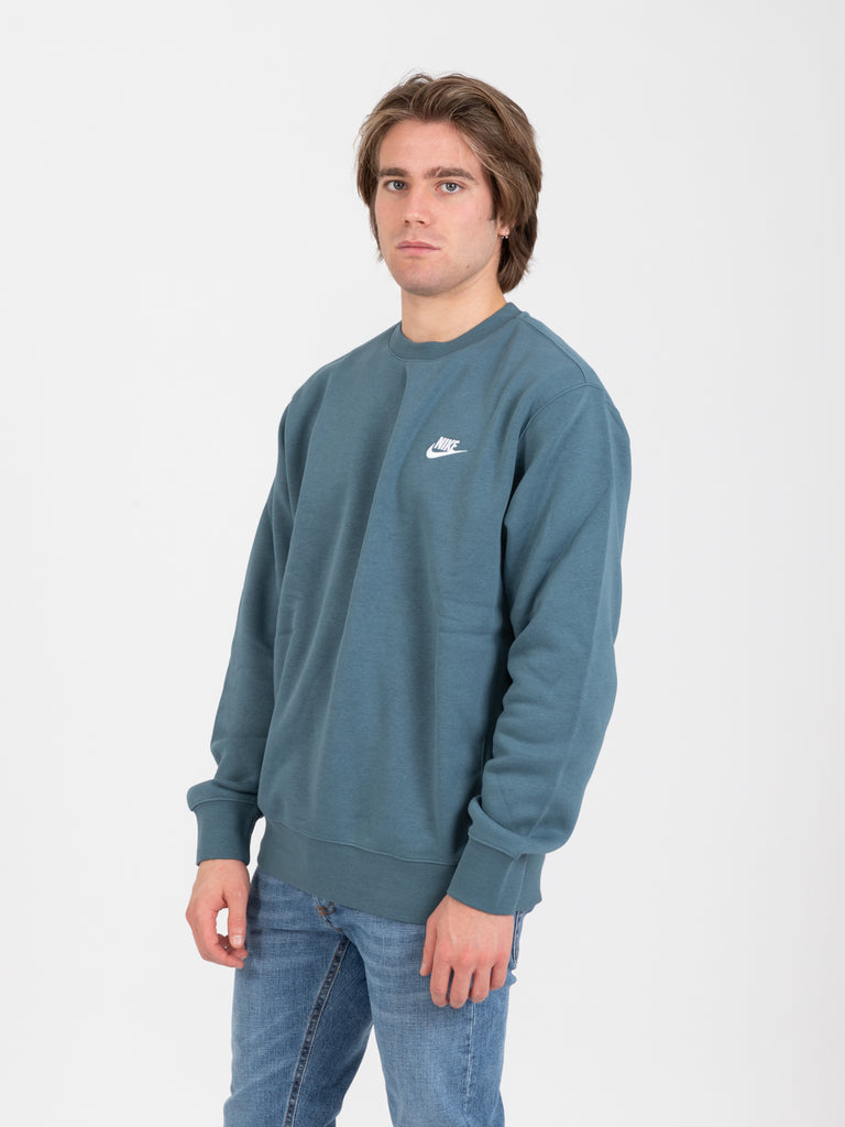 NIKE - Felpa Sportswear Club Fleece verde