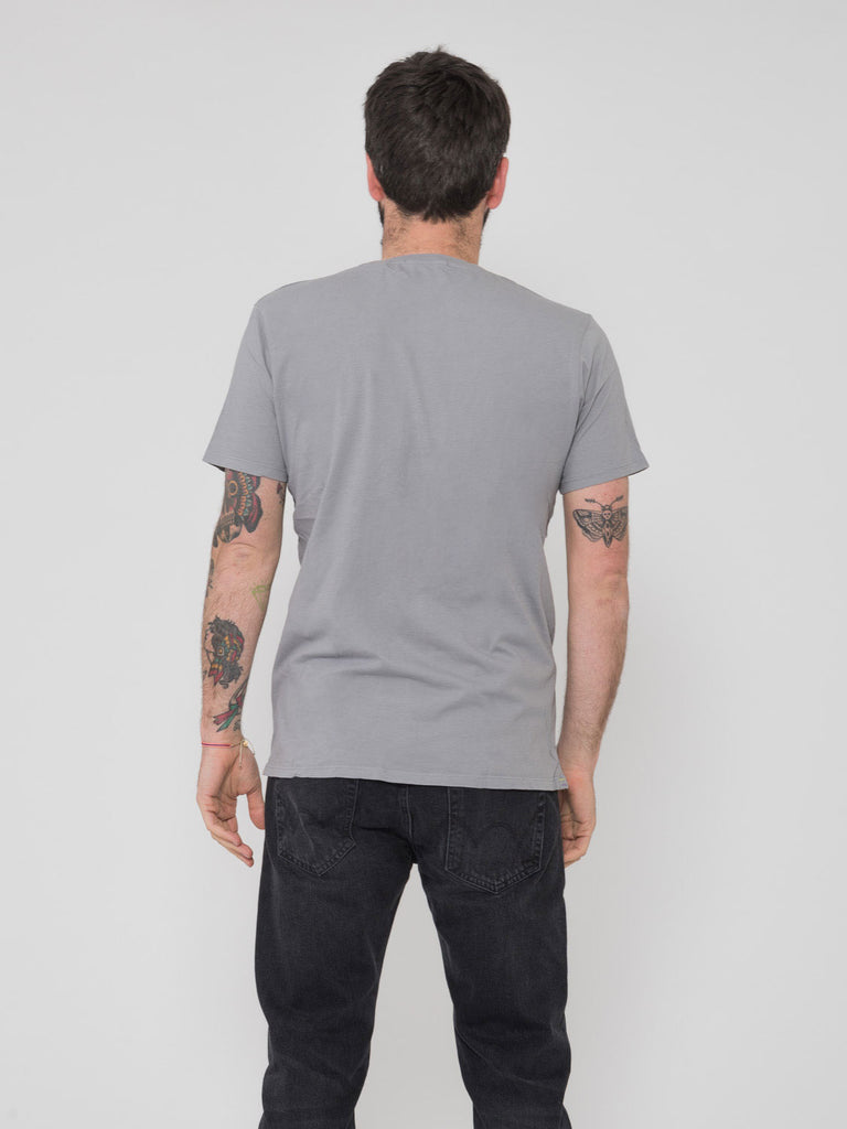 SCOTCH & SODA - T-shirt tinta in capo grigia