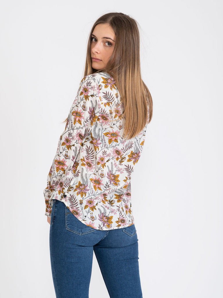MAISON SCOTCH - Camicia in cotone floreale