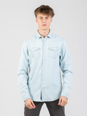 SCOTCH & SODA - Camicia western denim chiaro