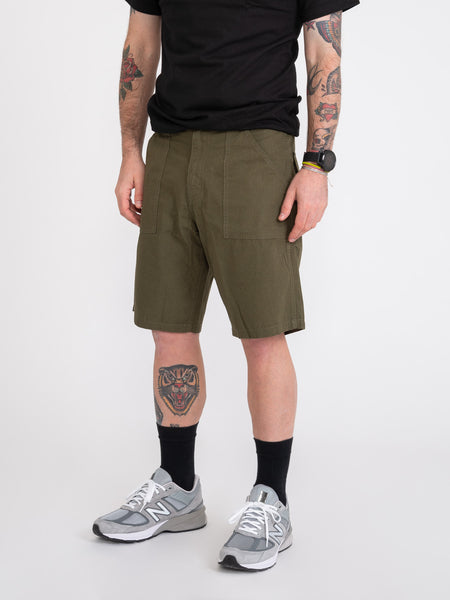 Bermuda Fat Short washed olive ripstop