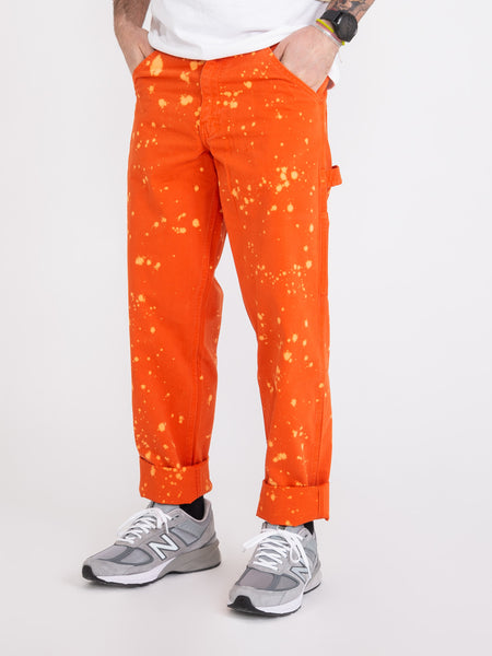 Pantaloni 80s Painter coral bleach spots