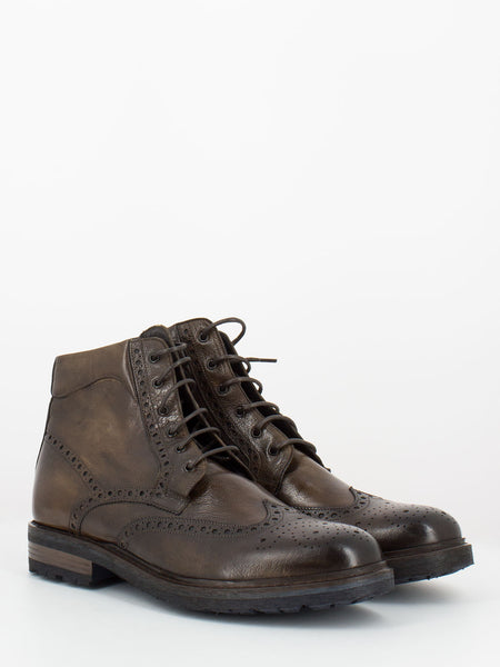 Anfibi Bufalo full-brogue marroni