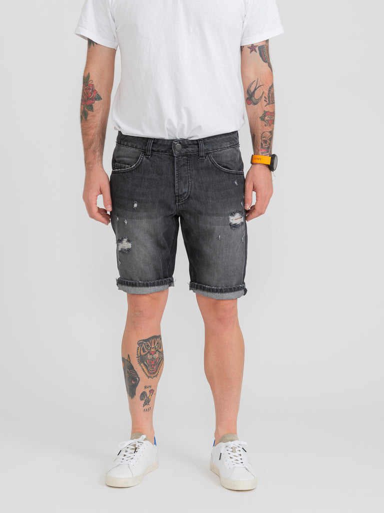 STIMM - Bermuda Jos in denim neri