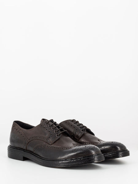 Derby full-brogue marroni