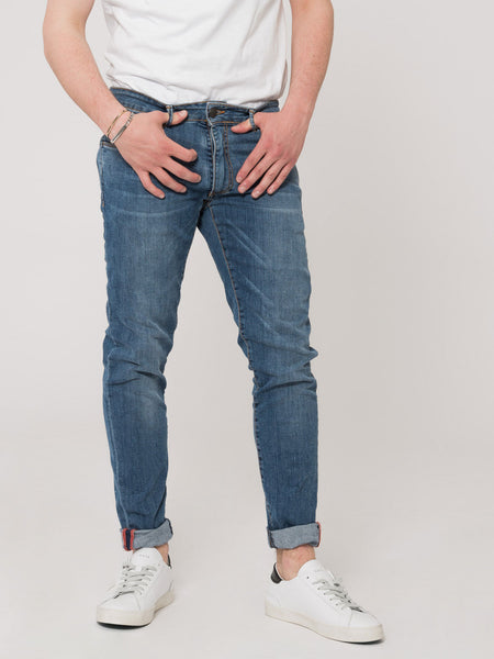 Jeans Tom Log In denim medio
