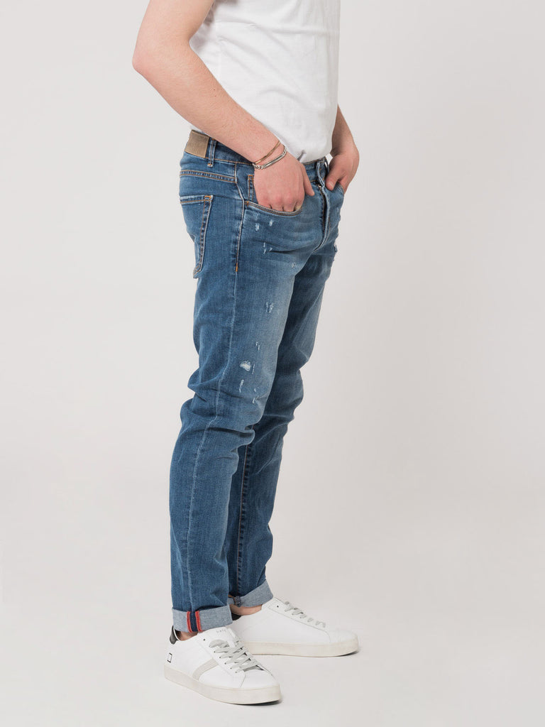 STIMM - Jeans Tom Log In denim medio strappato