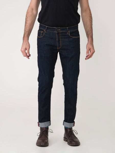 Jeans tom log in denim scuro