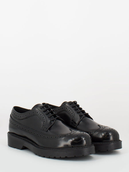Derby in pelle full brogue nere