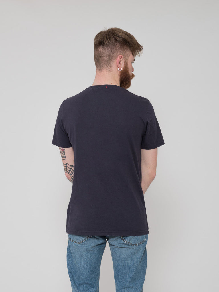 STIMM - T-shirt navy pocket micro navy stripe
