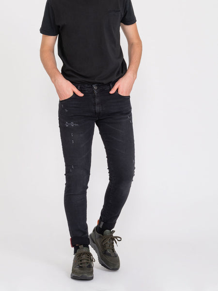 Tom Log In denim nero vintage