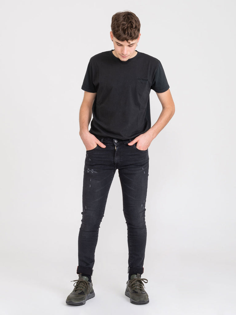 STIMM - Tom Log In denim nero vintage