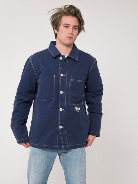Giacca navy in canvas