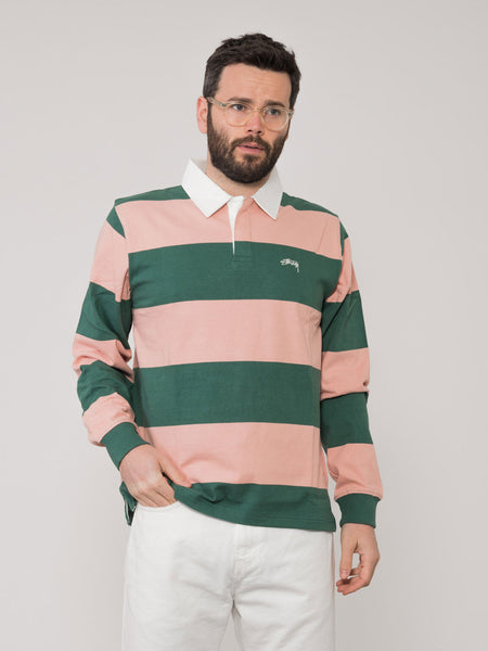 Maglia polo Ralphie Stirpe Ls Rugby verde / rosa