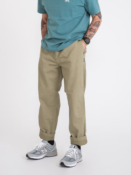 Pantaloni brushed beach olive