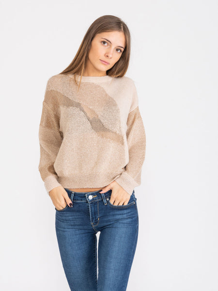 Pullover Pigalle beige / oro