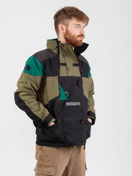 Anorak apogee Steep Tech olive green / evergreen / black