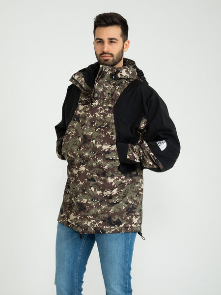Giacca a vento Retro Mountain Light Futurelight 1994 nero / camouflage