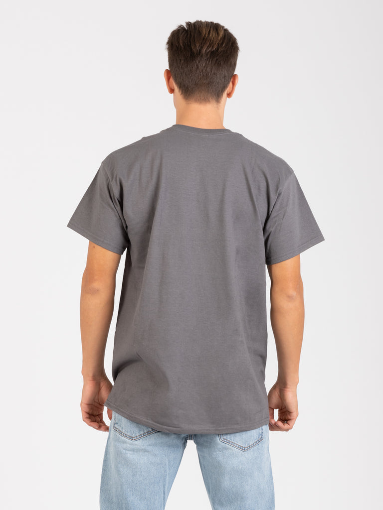 THRASHER - T-shirt Flame grigio scuro