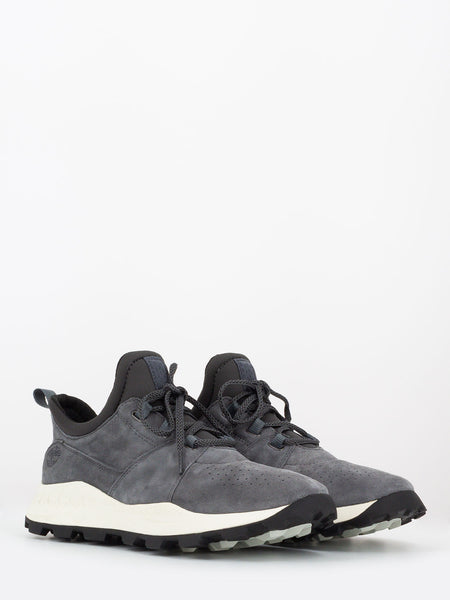 Brooklyn oxford medium grey suede