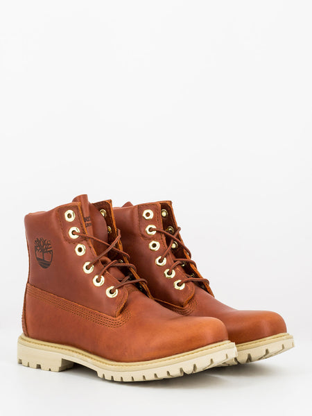 Nellie 6 In waterproof boot rust full grain