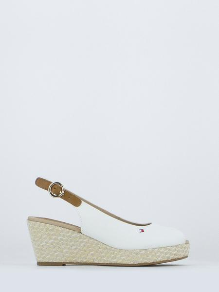 TOMMY HILFIGER - Sandali iconic elba basic whisper white
