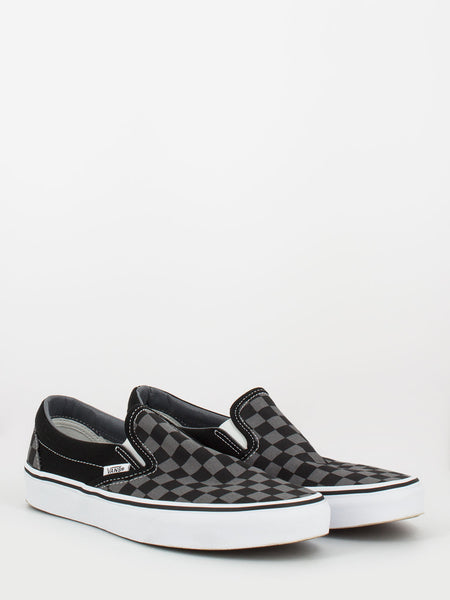 Classic slip-on checkerboard black / pewter