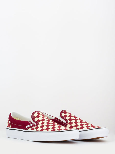Classic slip-on checkerboard Rumba Red / True White