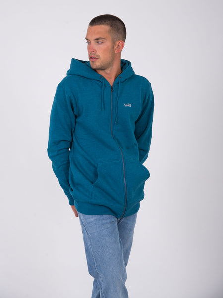 Felpa basic con zip navy