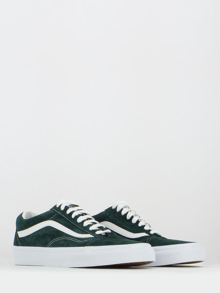Old skool suede verde scuro / bianco