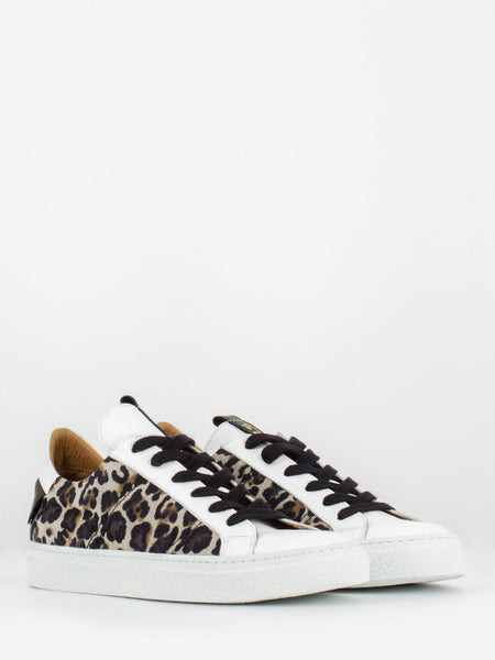 Sneakers Saint Barth leopard / bianco