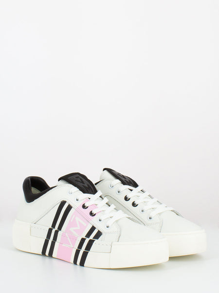 Sneakers con stampa logo bianco / rosa