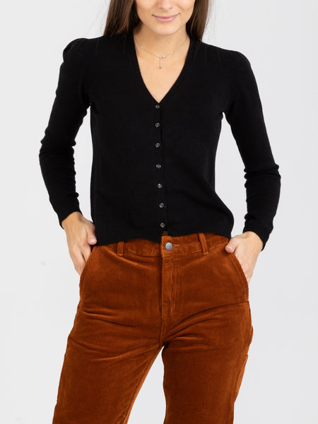 Cardigan slim nero