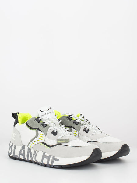Sneakers Club 01 bianco/ giallo fluo