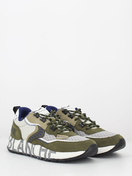 Sneakers Club 01 verde bosco / beige