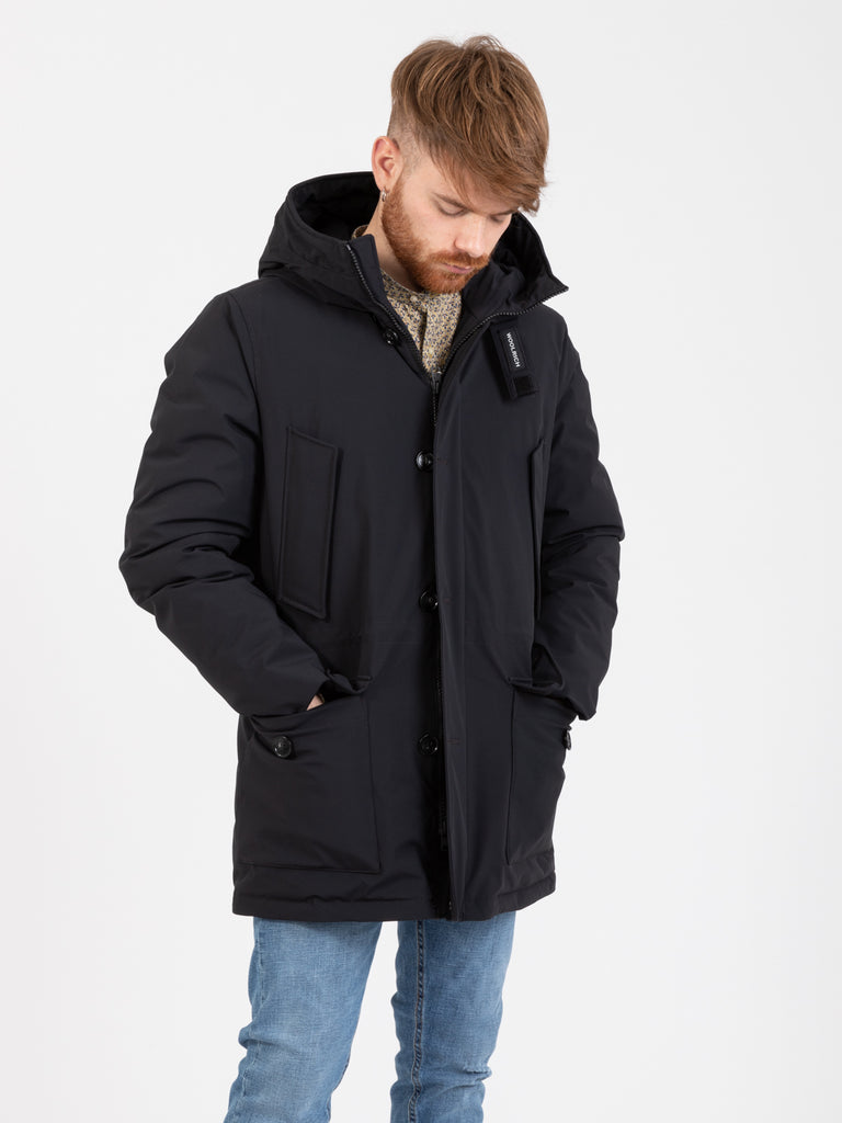 WOOLRICH - Tech stretch Arctic Parka nero