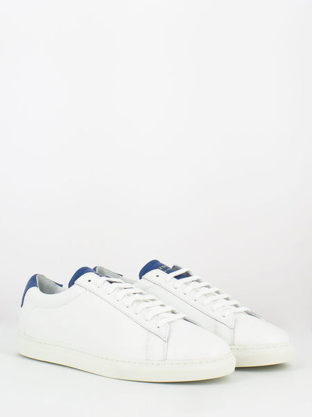Sneakers in pelle bianco / bluette