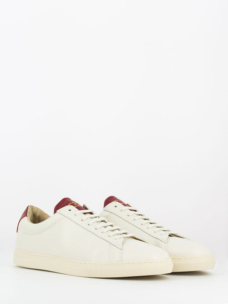 Sneakers nappa avorio / bordeaux