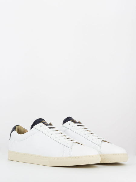 Sneakers nappa bianco / navy