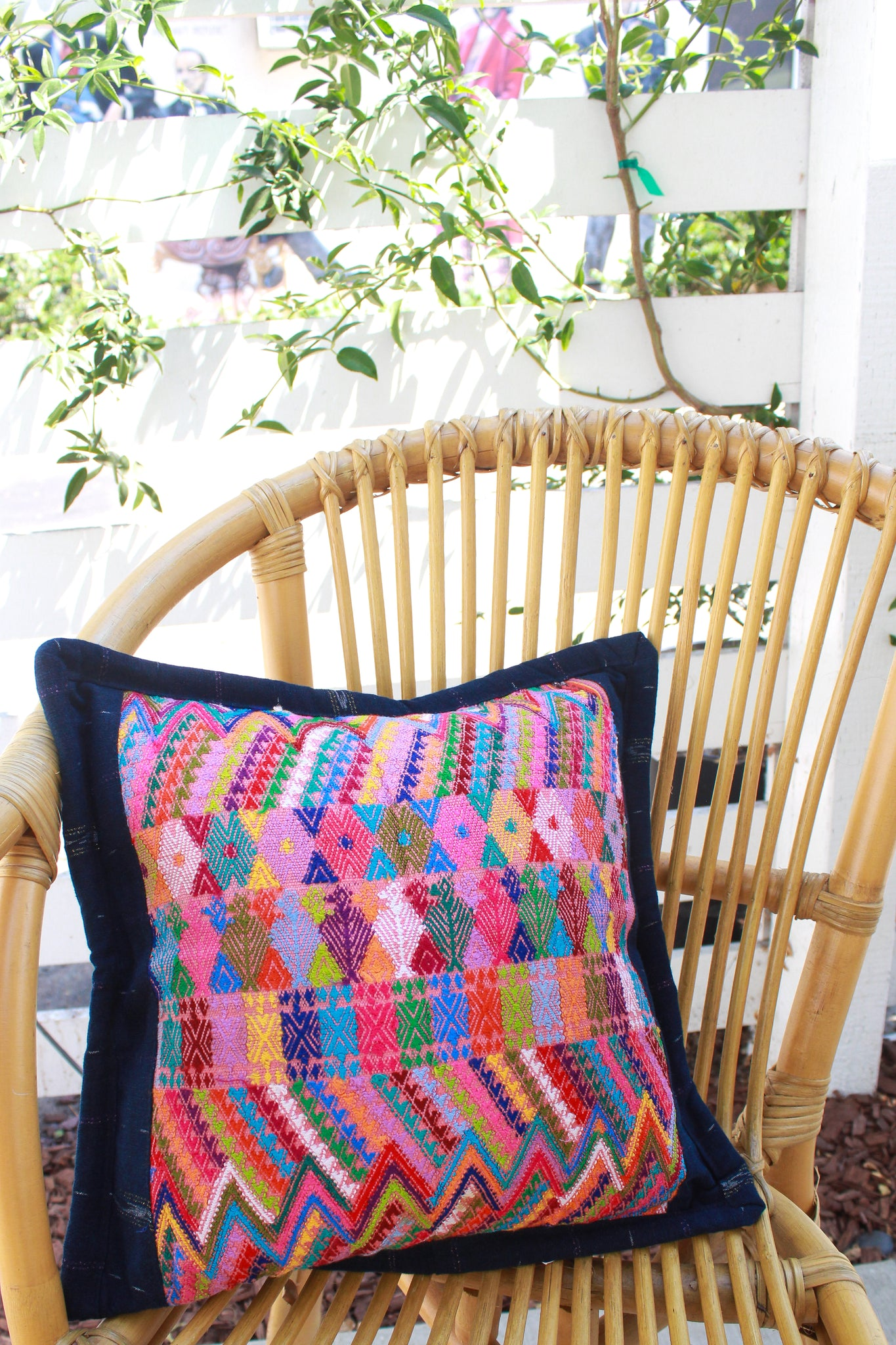 Coat of Many Colors Textile Pillow - Wild Hearts & Halos