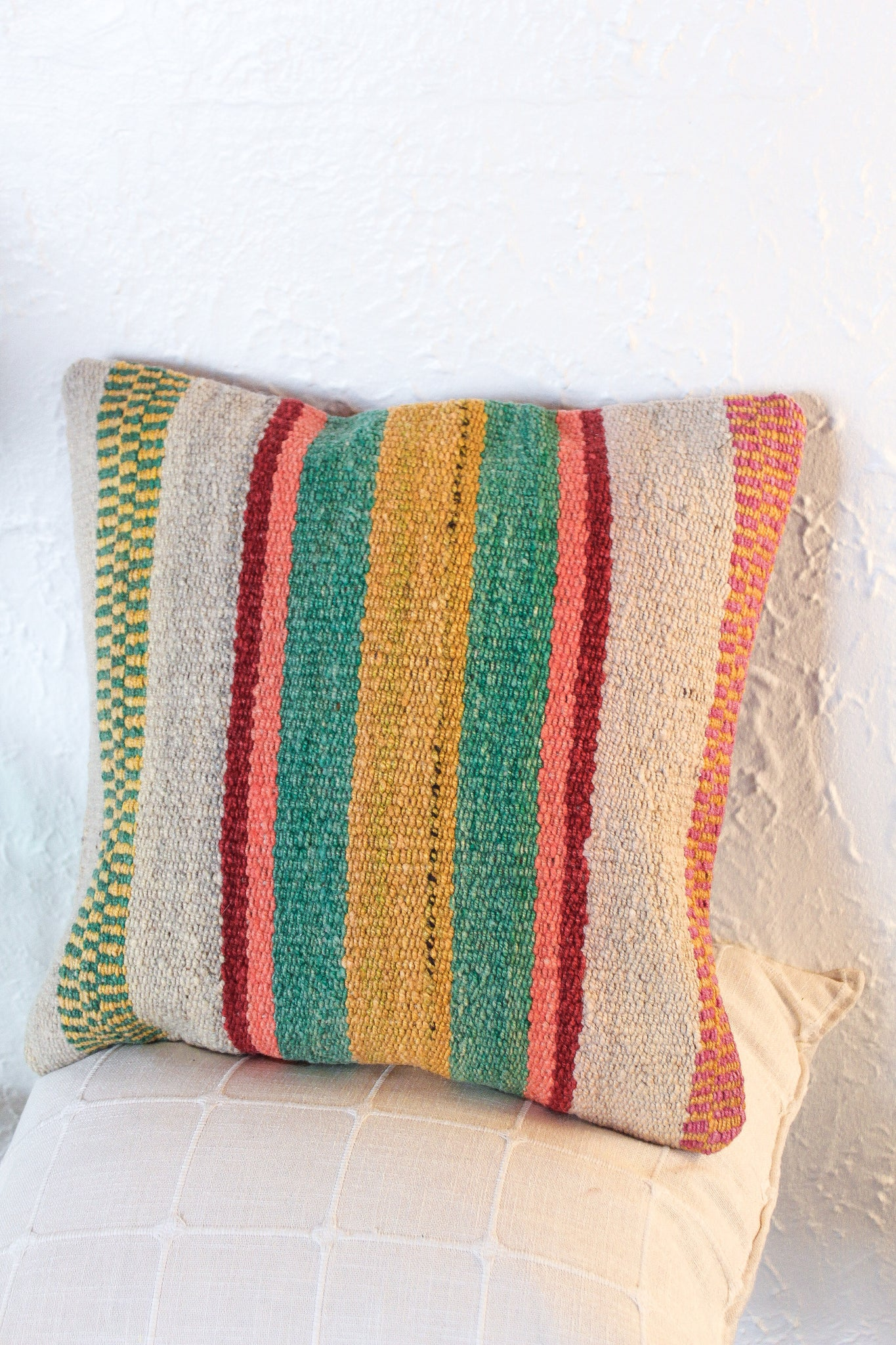 Sonora Sunrise Wool Textile Pillow