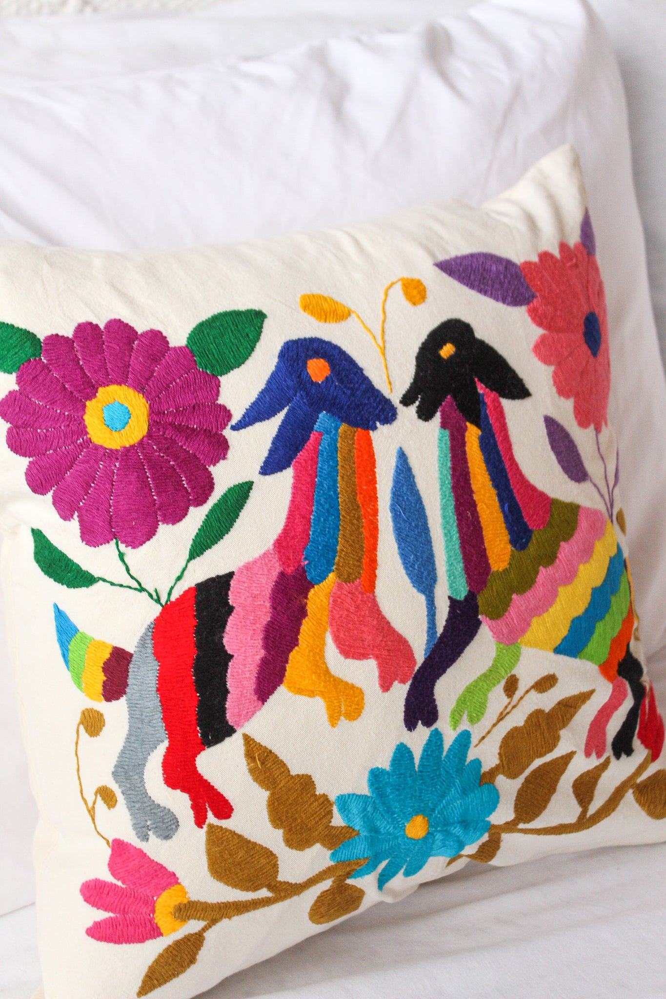 Be-EWE-tiful Embroidered Otomi Pillow