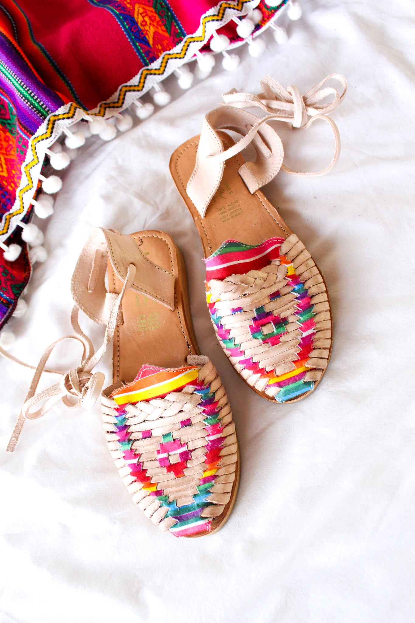 Somewhere Over the Rainbow Tye Huarache Sandals - Wild Hearts & Halos