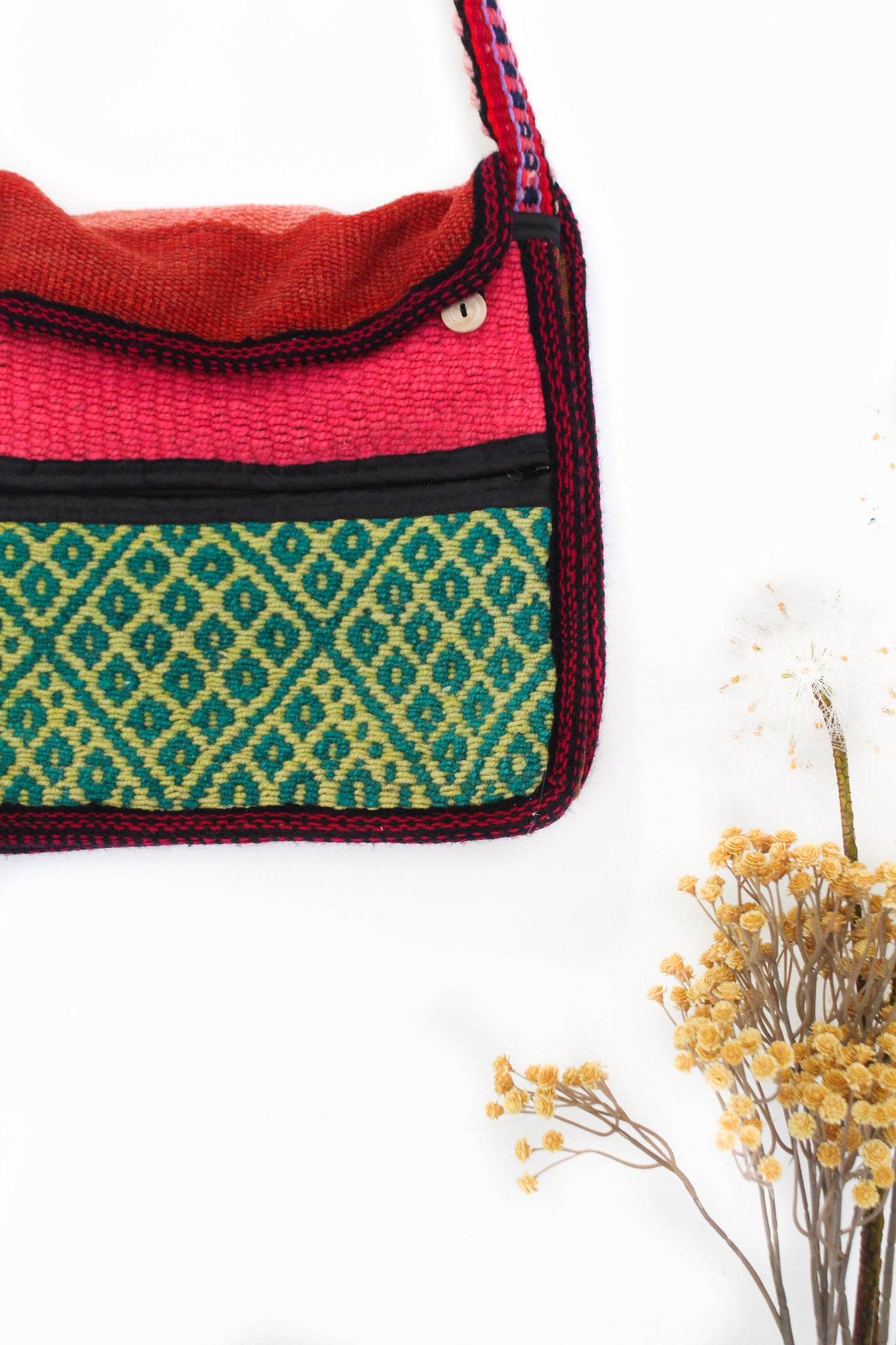 Prickly Pear Wool Cross-Body Bag