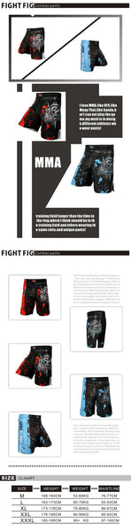 wko 10013 Men's boxing pants printing Fight Grappling Short Boxing Muay Thai