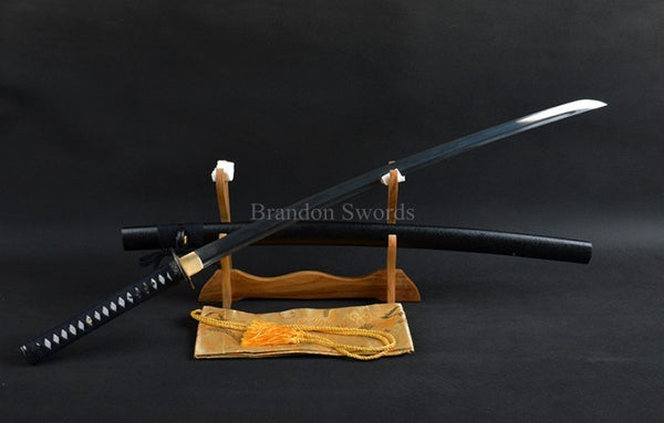 WKO 10023 Full Handmade Black Japanese Samurai Sword Sharp
